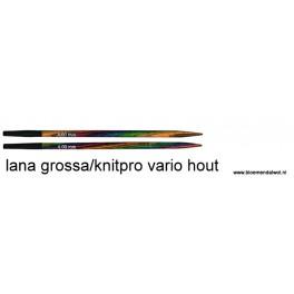 LANA GROSSA/Knitpro Vario Hout verwisselbare naalden 9 cm
