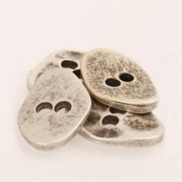 534 Knoop hoekig zilver 20 mm