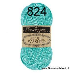 Scheppjeswol Stone Washed 824 Turquoise