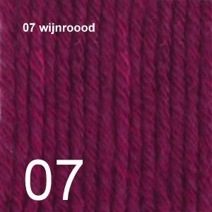 Cotton Merino 07 wijnrood