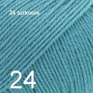 Cotton Merino 24 turkoois