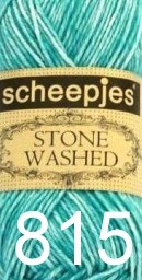 Scheepjeswol Stone Washed 815 green agate