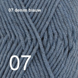Big Merino 07 denim blauw