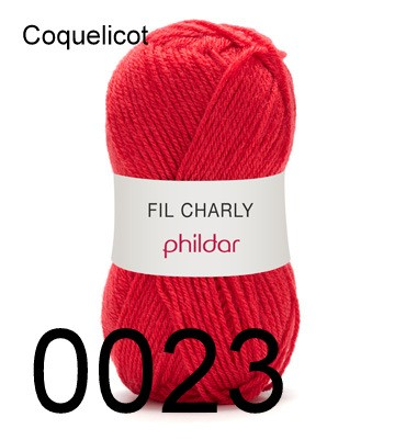 Phildar Charly Coquelicot 0023
