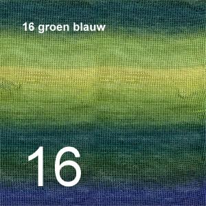 Delight 16 groen blauw