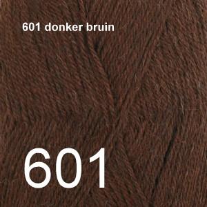 Alpaca Uni Colour 601 donker bruin