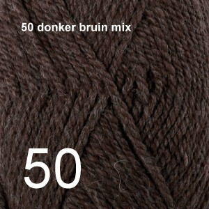 Alaska 50 donker bruin mix